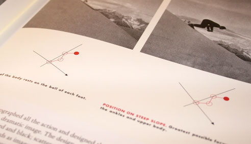 A photo of an example from a French skiing manual from Beautiful Evidence by Edward Tufte.