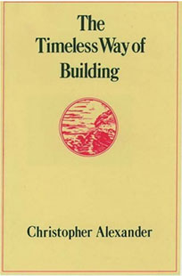 The cover for 'The Timeless Way of Building'